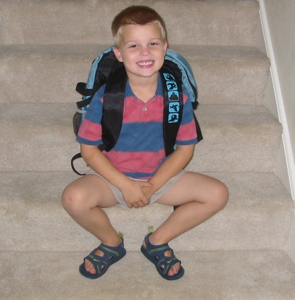 Tommy's first day of Kindergarten 2004